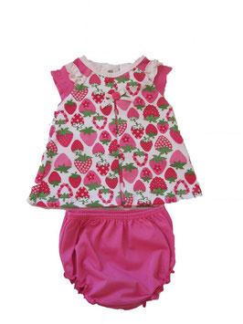 """Conjunto de bebé niña de falda con shorts modelo"""" Strawberry"""""""