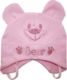 "Gorro de bebé color rosa ""Bear"""
