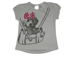 """Camiseta de niña modelo """" Perrito en bolso"""""""