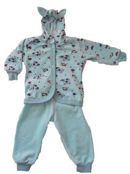 Pijama de dos piezas de felpa