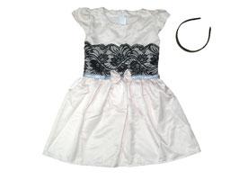 "Vestido corto de niña con diadema ""Roseli"""