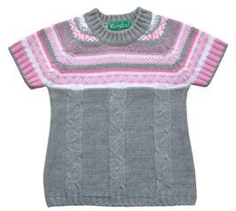 Jersey de punto de manga corta para niña