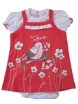"""Conjunto de bebé niña de bodi con camiseta """"Love"""""""