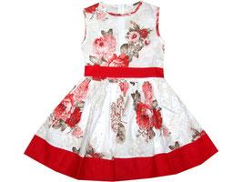 "Vestido de niña modelo ""Red flowers"""