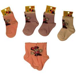 """Lote de calcetines de bebé niña """"Minnie"""""""