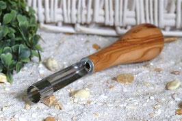 Apfelkernausstecher mit Olivenholzgriff