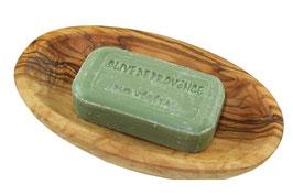 Seifenschale oval mit pflanzlicher Seife