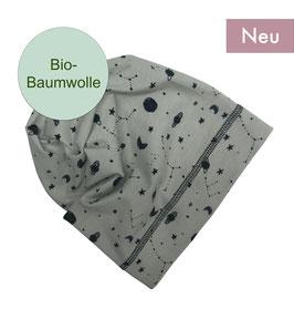 Beanie - Weltall grau