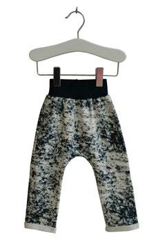 Jakob - Baggy Sweatpants blau weiß marmoriert