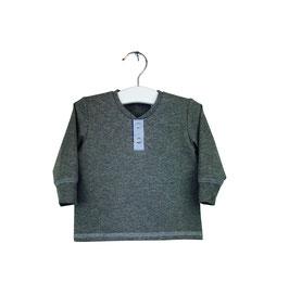 Gary - Shirt grau meliert mit Knopfleiste
