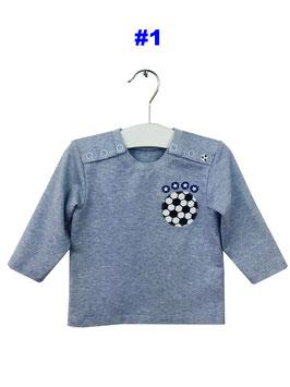 Fabian- Shirt hellblau meliert Fußball