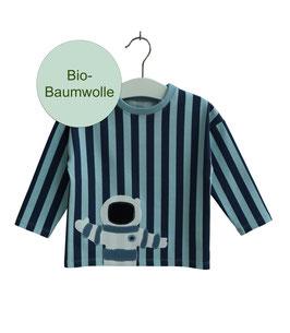 Klaas - blaues Streifenshirt mit Astronaut