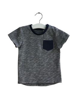 Jonas - Slub T-Shirt blau meliert