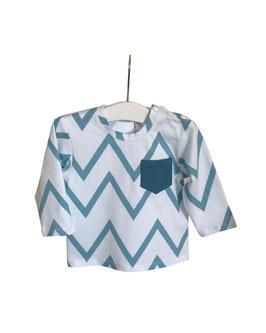 Henrik - Shirt weiß mit Chevron Muster