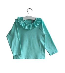 Jasmin - Shirt mint mit Volants