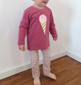 Mimi - Shirt cassis mit Eis Applikation