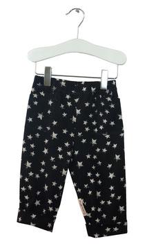 Edgar - Aufschlaghose schwarz Sterne