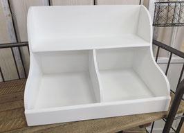Hecker Living  Regal mit 2 Fächern und Ablage weiß  / Größe XL