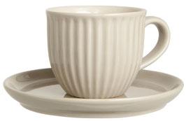 IB Laursen Tasse mit Untertasse Mynte Latte 135 ml