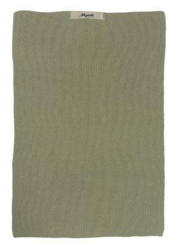 Ib Laursen Handtuch Mynte olive gestrickt