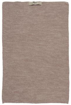 Ib Laursen Handtuch Mynte malva Melange gestrickt