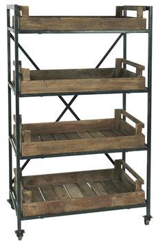 IB Laursen Display auf Rädern m 4 Kisten