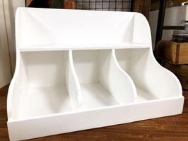Hecker Living  Regal mit 3 Fächern und Ablage weiß / Größe XL