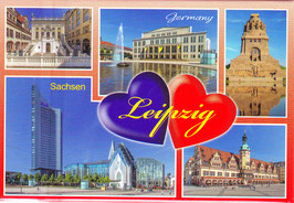 Magnet / Leipzig in zwei Herzen/ rot