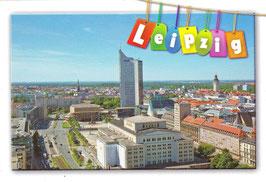 Magnet / bunter Leipzig Schriftzug