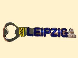 Magnet/ Metall/ Flaschenöffner mit Leipzig Schriftzug