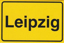 Magnet / Ortsschild Leipzig