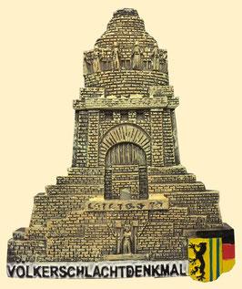 Magnet / Relief / Völkerschlachtdenkmal mit Stadtwappen
