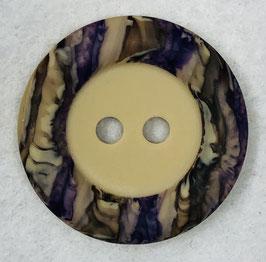 Ronde knoop beige met kleurrijke rand 2 gaats