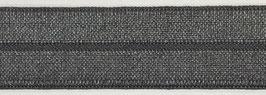 Biaisband elastisch donker grijs