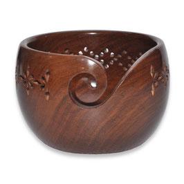 Durable houten yarn bowl hoog model donker hout
