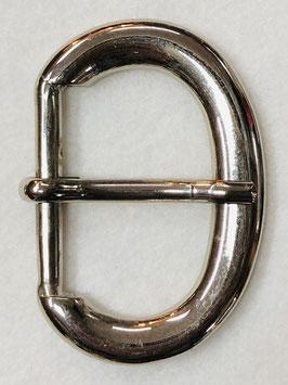 Metalen gesp D vorm glans metaal nr:313