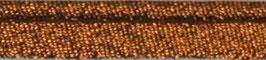 Bruin glitter paspelband