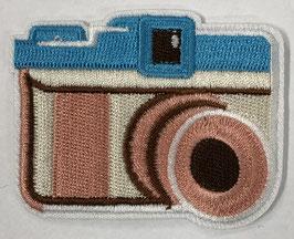 Blauw roze camera applicatie