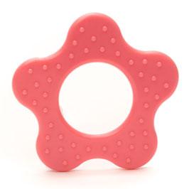 Roze ster met ribbel bijtring van Durable.