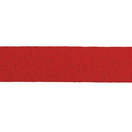 Keperband van polyester 20 mm rood