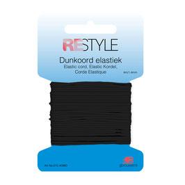 Zwart dunkoord elastiek 1,4 mm