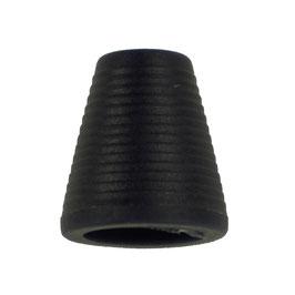 Koorddop kegelvorm zwart
