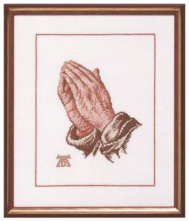 Borduurpakket van biddende handen.