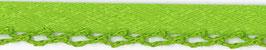 Licht groen biasband met een kantje