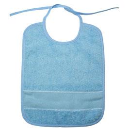 Slabbetje blauw met Aïda borduurband