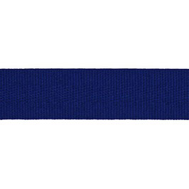 Keperband van polyester 20 mm kobalt blauw