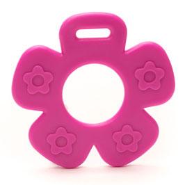 Roze bloem met bloemprint bijtring van Durable.