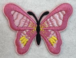 Applicatie vlinder roze met een zwart lijf