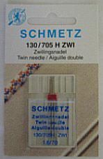 Schmetz tweelingnaald 130/705 H ZWI 1,6-70
