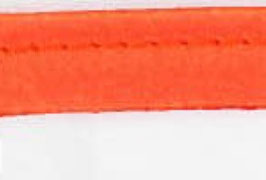 Oranje paspelband van satijn
